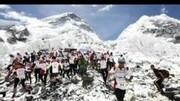 自然陽光世界之巔-珠峰登頂視頻